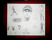 Stan Musial Drawings - Stan Musial - Stan The Man by Carliss Mora