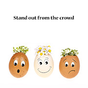 Business Cartoon Art - Stand out from the crowd by Jane Rix