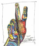Art Brut Drawings - Stand by Robert Wolverton Jr