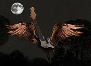 Flying Guitars Digital Art - Stand  Up by Eric Kempson