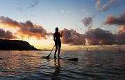 Stand Up Paddle Board Photos - Stand-up Paddle Surf by Monica & Michael Sweet - Printscapes