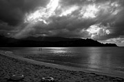 Stand Up Paddle Board Photos - Stand Up Paddlers in Stormy Skies by Lennie Green