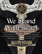 Prayer Shawl Paintings - Stand With Israel by Constance Woods