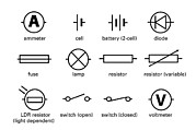 Light Dependent Resistor Prints - Standard Electrical Circuit Symbols Print by Sheila Terry