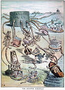 19th Century America Metal Prints - Standard Oil Cartoon Metal Print by Granger