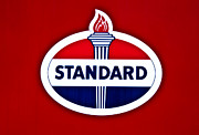 Vintage Auto Digital Art Posters - Standard Oil Sign Poster by Bill Cannon