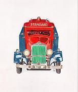 Standard Oil Tanker Print by Glenda Zuckerman