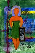 Wax Mixed Media Framed Prints - STANDing 4 Something Framed Print by Angela L Walker