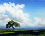 Lone Tree Painting Prints - Standing Alone Print by Marina Petro