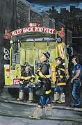 Bronx Fire Paintings - Standing Fast-engine 75 by Paul Walsh
