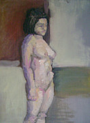 Woman Drawings - Standing Figure by Cynthia Harvey