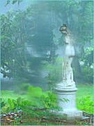Rain Digital Art - Standing in the Rain by Mindy Newman