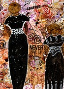 Art Therapy Mixed Media - Standing Steadfast in LOVE and Kindness by Angela L Walker