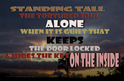 Ptsd Posters - Standing Tall Alone Poster by Vicki Ferrari Photography