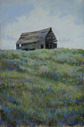 Old Barns Pastels Posters - Standing Tall Poster by Billie J Colson