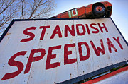 Racetrack Digital Art Posters - Standish Speedway Poster by Gordon Dean II