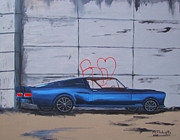 Ford Mustang Painting Framed Prints - Stang Framed Print by Mark Fluharty