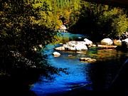 Riverscape - Early Autumn Prints - Stanislaus River Print by Helen Carson