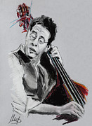 Bass Player Framed Prints - Stanley Clarke Framed Print by Melanie D