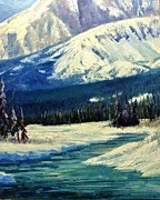 Salmon River Idaho Paintings - Stanley Idaho  by Tom Siebert