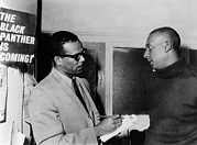 Integration Posters - Stanley S. Scott Interviewing Stokely Poster by Everett