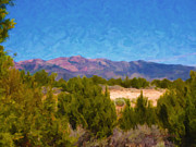 Salt Lake Painting Prints - Stansbury Mountains Print by Stephen Lawrence Mitchell
