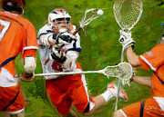Lacrosse Paintings - Stanwick Lacrosse 2 by Scott Melby