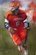 Lacrosse Paintings - Stanwick Lacrosse 3 by Scott Melby