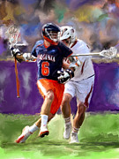 Lacrosse Paintings - Stanwick Lacrosse by Scott Melby