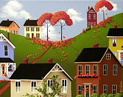 Autumn Folk Art Posters - Staplehill  Poster by Catherine Holman