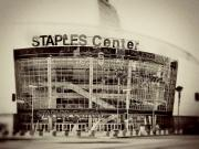 Lakers Metal Prints - Staples Center Metal Print by Ariane Moshayedi
