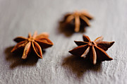 Anise Posters - Star Anise On Slate Tray Poster by Alexandre Fundone