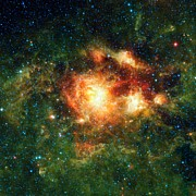 Star Birth Prints - Star-birth Region, Space Telescope Image Print by Nasajpl-caltechucla