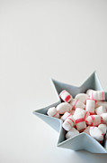 Studio Shot Art - Star Bowl With Mint Candy by Elin Enger