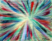 Jet Star Painting Posters - Star Burst Poster by Buddy Paul