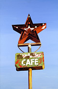 Road Sign Paintings - Star Cafe - Route 66 Texas by Jeff Taylor