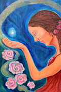 Sacred Feminine Paintings - Star Catcher by Kate Langlois