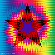 Geometric Abstraction Mixed Media - Star Dance by Eric Edelman