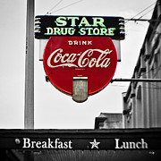 Lensbaby Photography Framed Prints - Star Drug Store Framed Print by Scott Pellegrin