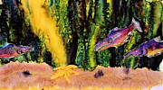 Landscape Tapestries - Textiles Prints - Star Fish Print by Carolyn Doe