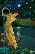 Goddess Paintings - Star Goddess by Pamela Wells