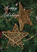 Christmas Cards Art - Star Holiday Card by Sabrina L Ryan