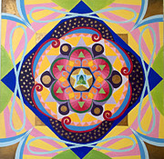 Mindfulness Paintings - Star Mandala by Anne Cameron Cutri