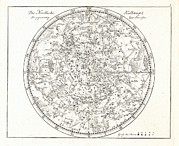 Star Map Framed Prints - Star Map, 1805 Framed Print by Detlev Van Ravenswaay