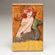 Red Hair Reliefs Prints - Star Mermaid Print by James Neill