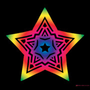 Chromatic Mixed Media Prints - Star of Gratitude Print by Eric Edelman
