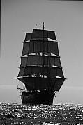 Sailing Metal Prints - Star of India Backlit Metal Print by David Shuler