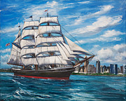 Star-ship Paintings - Star of India by Lisa Reinhardt