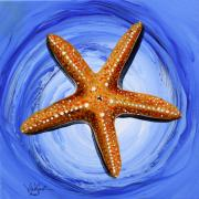 Sea Shell Painting Prints - Star of Mary Print by J Vincent Scarpace