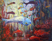 Fish Underwater Paintings - Star of the Show by Nanci Cook